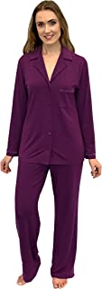Shadowline Before Bed Collection Women's Modal Notched Collar Pajama Set Grape