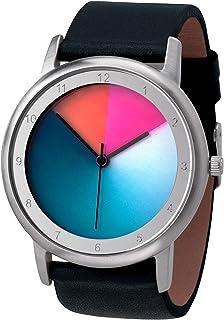 Reloj de pulsera unisex con caja de acero inoxidable Avantgardia classic, Rainbow e-motion of color