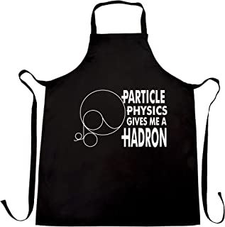 Rude Nerdy Chef's Apron Particle Physics Gives Me A Hadron Black One Size