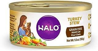 Halo Grain Free Natural Wet Cat Food, Turkey Recipe (Pack of 12)
