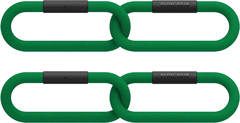 REAXING Reax Chain 3 kg, Flexible Gewichte, weiches Gewicht für Functional Training, grün, 2 Ringe, 2 Stück