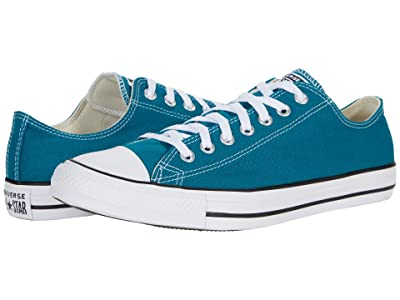 Converse Chuck Taylor All Star Ox Seasonal Color (Bright Spruce) Athletic Shoes