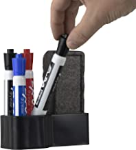 Storage Theory | Dry Erase Board Marker and Eraser Holder | Peel & Stick | No Hardware Required | Black Color | Markers & Eraser NOT Included