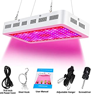ARKNOAH 1500W Growing Lamps with 8 Bands Full Spectrum UV IR Color Ratio for Indoor Plants Veg and Flowering in Greenhouse Hydroponics and Grow Tent (White)