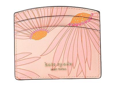 Kate Spade New York Spencer Grand Daisy Card Holder (Pink/Multi) Handbags