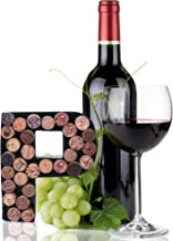 Made Easy Kit Wine Cork Holder Decorative Metal Monogram Letter for Wine Corks - Easy Mount kit Included (Letter P, 7