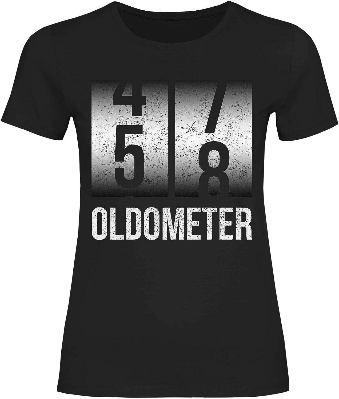wowshirt Camiseta 50.o Regalo del 60 cumpleaños de 20-90 años de Edad Oldometer Altometer para Mujer