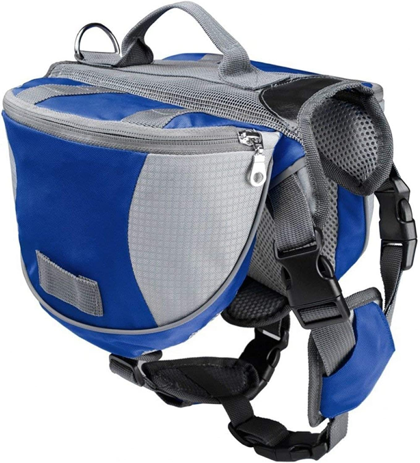 BeTti Pet Dog Carrying Bag from Backpack to Go Out Portable Backpack Small Medium Large Dog Husky golden Pet Supplies (color   bluee, Size   Medium)