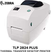 Zebra - TLP2824 Plus Thermal Transfer Desktop Printer for Labels, Receipts, Barcodes, Tags, and Wrist Bands - Print Width of 2 in - Serial and USB Port Connectivity