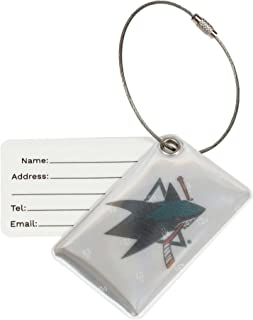 Finnex Reflectors Official NHL San Jose Sharks Reflective Luggage Tag | Provides High Visibility Safety While Travelling