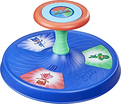 Playskool PJ Masks Sit 'n Spin Musical Classic Spinning Activity Toy for Toddlers Ages 18 Months and Up (Amazon Exclusive)