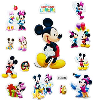 Disbch 3D Stickers for Kids & Toddlers 400+pcs Vinyl Skateboard Guitar Travel Case Sticker Door Laptop Luggage Car Bike Bicycle Stickers (Mickey Mouse)
