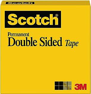 شريط سكوتش مزدوج الجوانب، قوي وامن للصور، ومصمم للاستخدام في المكتب والمنزل، مقاس 1 × 1296 انش، معلب، بكرة واحدة (665)