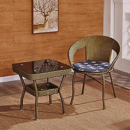 Amazon.es: mesas terraza - Mimbre / Muebles: Hogar y cocina