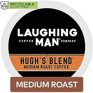 Laughing Man Hugh's Blend, Single Serve Coffee K-Cup Pod, Medium Roast, 16 Count