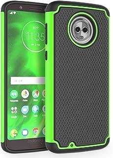 Moto G6 Case, SYONER [Shockproof] Defender Phone Case Cover for Motorola Moto G 6th Generation [Green]