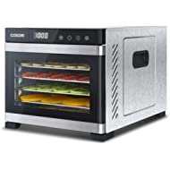COSORI Premium Food Dehydrator... COSORI Premium Food Dehydrator Machine(50 Free Recipes), 6 Stainless Steel Trays w/Digital Timer...