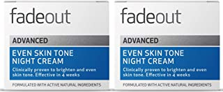 Fade Out Advanced Even Skin Tone Night Cream 2 x 50ml - With Niacinamide Lactic Acid and Rosehip Seed Oil
