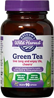Oregon's Wild Harvest Green Tea Supplement, 90 Capsules