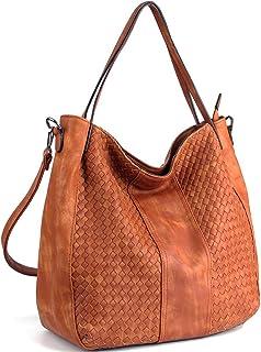WISHESGEM Women Handbags Top-Handle Fashion Hobo Tote Bags PU Leather  Shoulder Satchel Bags dcd1b8193917f