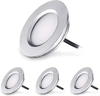 Kohree LED Spot Encastrable Extra Plat 3W 12V LED Encastré Lampe Plafonnier Rond Dimmable 240 Lumen Blanc Chaud IP44 pour ...