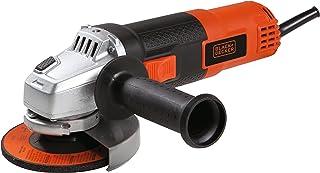 Black+Decker 820W 115mm Small Angle Grinder for Metal Grinding & Cutting, Orange/Black - G720P-B5, 2 Years Warranty