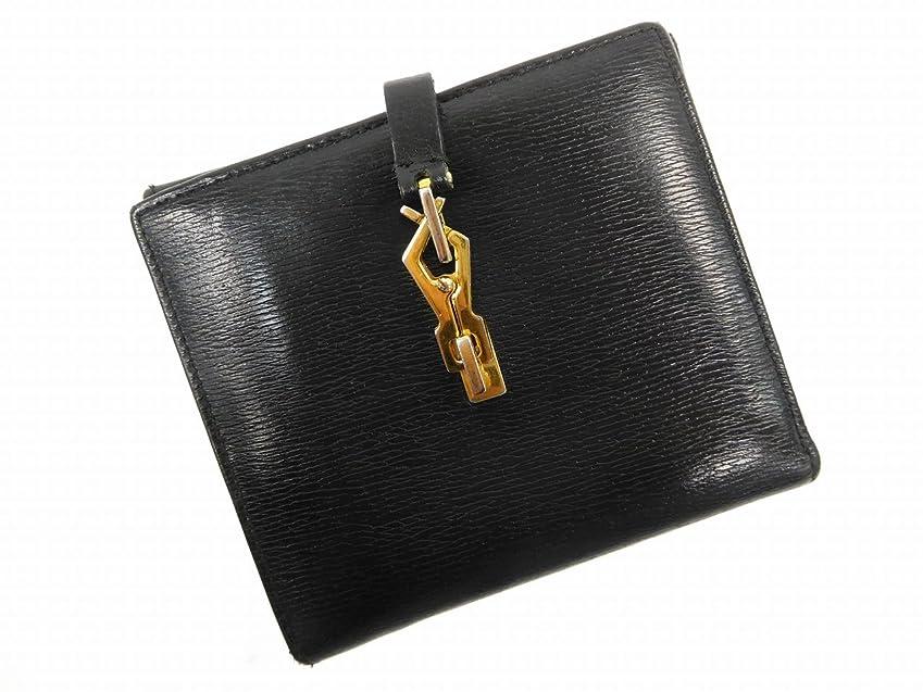 エーカー立法学習[グッチ] GUCCI 二つ折り財布 レザー X14828 中古