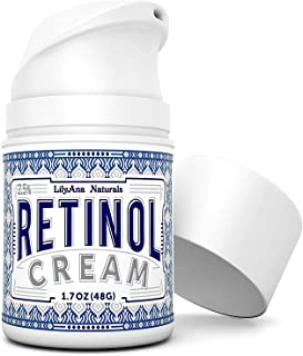 Retinol Cream Moisturizer for Face and Eyes Use Day and Night - for Anti Aging Acne Wrinkles - made with Natural and Or...