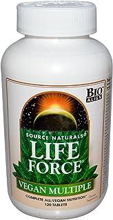 SOURCE NATURALS Life Force Vegan Multiple Tablet, 120 Count