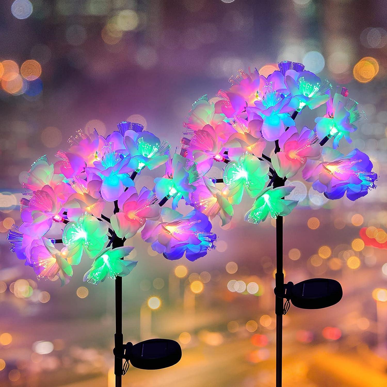 BOKEYU Solar Powered Lights Outdoor Decorative Max 52% OFF Realist 40 Garden Under blast sales