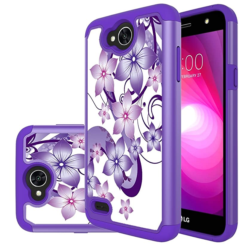 LG X Charge Case,LG X Power 2 Case,LG Fiesta LTE Case,Yiakeng Shock Absorbing Dual Layer Protective Fit Armor Phone Case Cover Shell for LG X power2 5.5