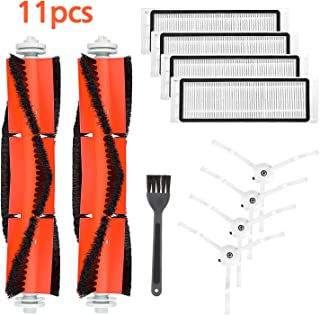 isinlive Accessories Kits for XIAOMI MI mijia Roborock S50 E25 S5 E20 C10 S50 Roborock Robot Vacuum Replacement Parts 4 HEPA Filters, 2 Main Brushes, 4 Side Brushes, 1 Cleaning Tool