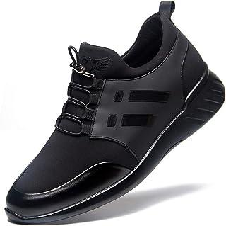 Zapatos casuales Zapatos de elevación de los hombres, zapatillas de encaje ajustables invisibles aumentadas clásicas, zapa...