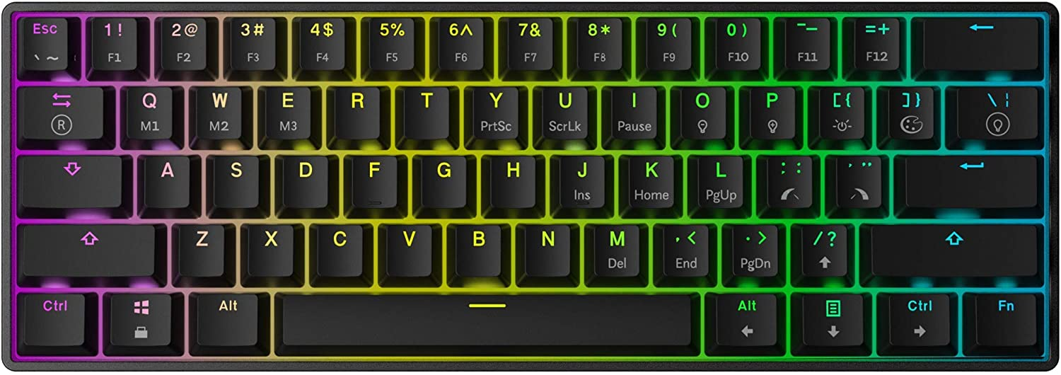 Fees free!! Mizar MZ60 Luna Hot Swappable Mechanical - New products world's highest quality popular Ke Keyboard 61 Gaming