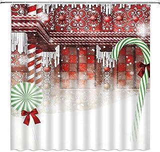 EdCott Il Personaggio dei pesciolini Grassi del Bambino ha Una Frase Felice Logo Umorismo Tessuto Design Animale Facile da Pulire Tenda da Doccia per Bagno Tenda dellhotel da Bagno Rosso Scuro