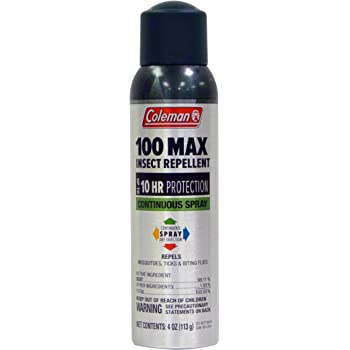 Coleman 100 Max 100% DEET Insect Repellent Spray - 4 oz Can