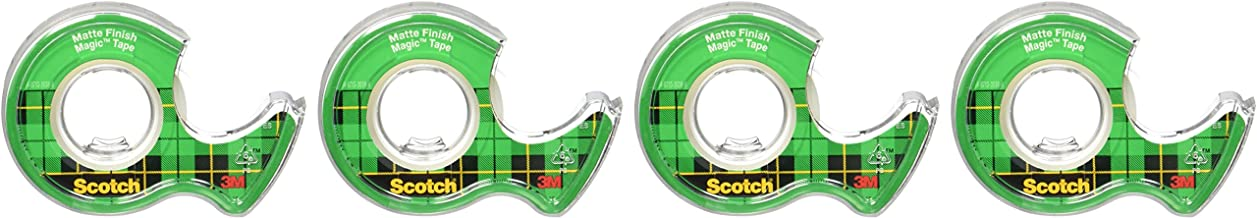 Scotch Magic Tape, 4 Rolls, Numerous Applications, Invisible, Engineered for Repairing, 3/4 x 300 Inches, Boxed