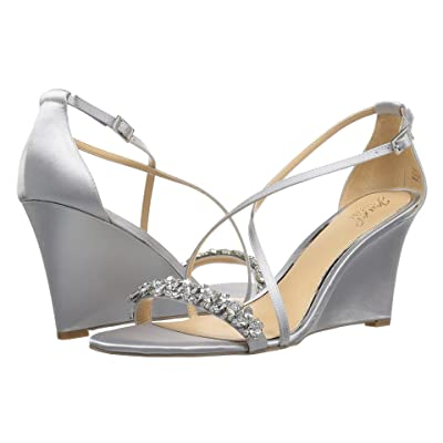 Jewel Badgley Mischka Little (Silver Satin) Women