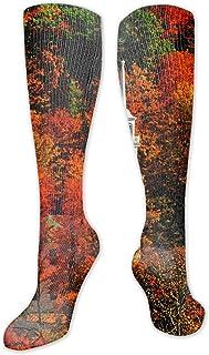 Para hombres y mujeres Dirt Bike Motocross Calcetines Hasta la rodilla Turn Up Rib Coloridos calcetines de invierno