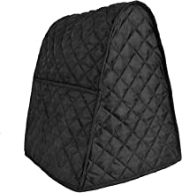 Stand Mixer Cover Dust-proof with Two Side Pockets Design for Kitchenaid, Sunbeam, Cuisinart, Hamilton Mixer (Black) (Full Size, Black)