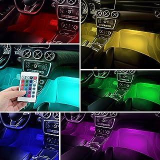 車の装飾ライト、屋内の雰囲気のライト、車のLED、ネオンライト、車の照明キット、車のネオンチューブ、RGB LEDストリップ、USBワイヤレスリモートミュージック、リモコン、アプリケーション (Emitting Color : 48LED US...