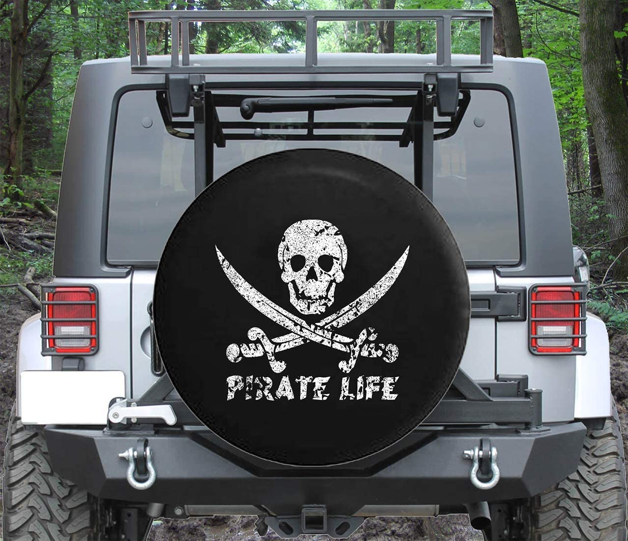 Spare Tire Cover Pirate Life Skull Swords 5 Fees free!! ☆ very popular Saltwater F Edition
