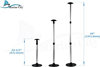 MARINE CITY Aluminum Telescoping Spherical-Top Boat Cover 3 Section Support Stand Pole (1Pcs)