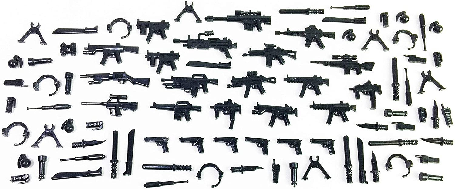 Brick Loot MEGA Free shipping / New Pack 86 for Designed In a popularity Minifigures Weapons -