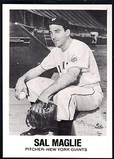 Baseball MLB 1977-84 Galasso Glossy Greats #28 Sal Maglie NY Giants