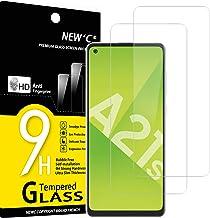 NEW'C Lot de 2, Verre Trempé Compatible avec Samsung Galaxy A21s, Film Protection écran sans Bulles d'air Ultra Résistant (0,33mm HD Ultra Transparent) Dureté 9H Glass