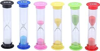 I-MART Plastic Sand Timer Sandglass Hourglass Sand Clock Timer 30 sec, 1 min, 2 mins, 3 mins, 5 mins, 10 mins (Pack of 6)