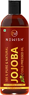 Newish® Cold Pressed Jojoba Oil for Skin & Hair Growth - Virgin & Unrefined 200ml