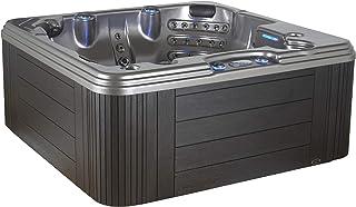 Essential Hot Tubs 50-Jet Solara Hot Tub, Seats 5-6, Black Winter Solstice