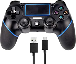PS4 Controlador Sades Wireless Controller para Playstation 4 con doble vibración, incluye cable USB